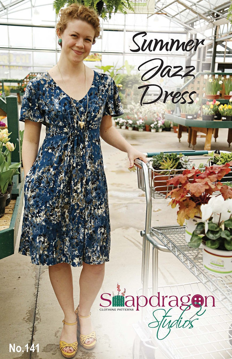 Printed Pattern Summer Jazz Dress Snapdragon Studios image 0
