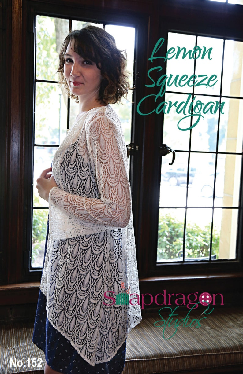 Printed Pattern Lemon Squeeze Cardigan by Snapdragon Studios image 0