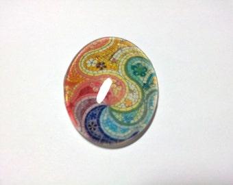 Cabochon Colorful 01