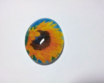 Cabochon Sunflowers 01