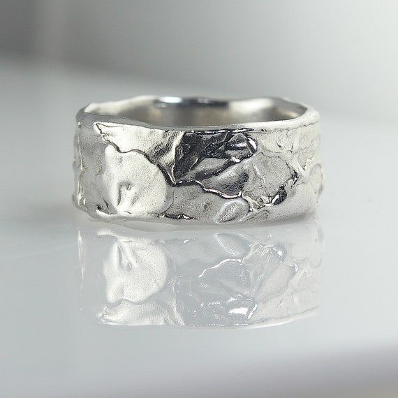 Unique Wedding Band For Men For Women Wide Wedding Ring Etsy