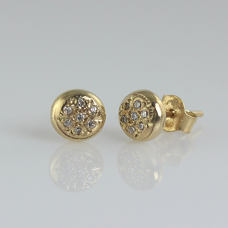 Tiny Stud Earrings Diamond Stud Earrings Studs for Women image 0