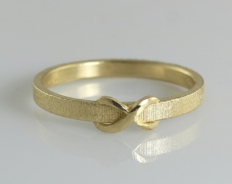 Infinity Gold Ring, Infinity Ring, Infinity Wedding Ring, Promise Ring for Her, Dainty Wedding Band, Christmas Gift, Personalized gift