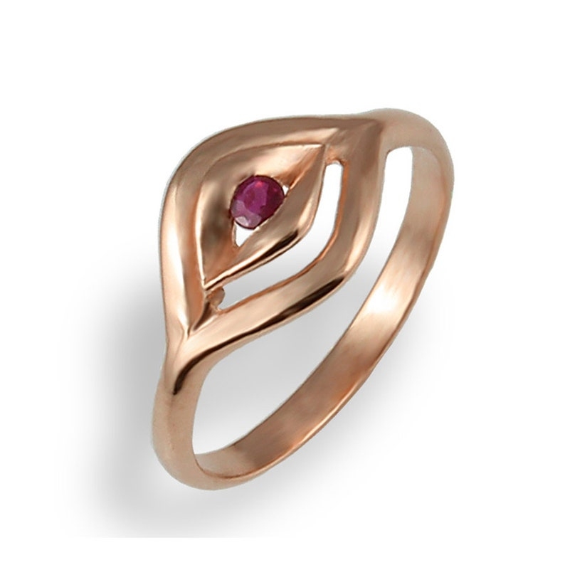 Rose Gold Ring  Ruby Ring  Rose Gold Engagement Ring  image 0