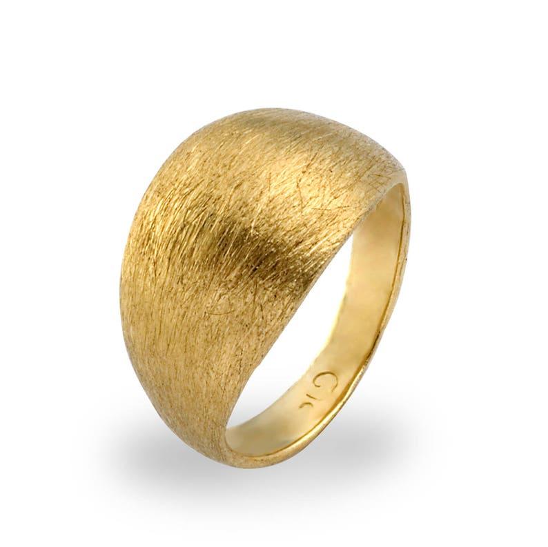 14K Gold Pinky Ring  Women's Pinky Ring  Minimalist 14K Yellow Gold