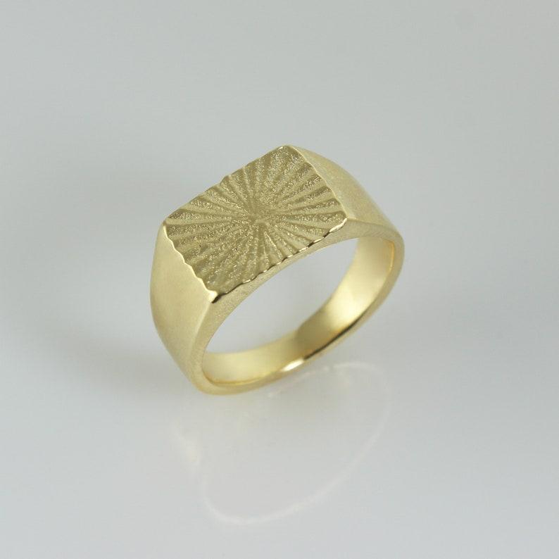 Signet Ring Signet Ring for Women Pinky Ring 14k Gold image 0
