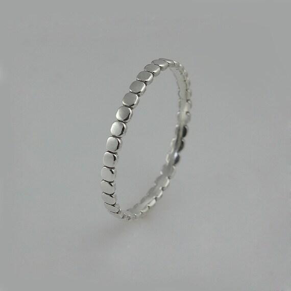 White Gold Ring White Gold Wedding Ring Dainty Womens Etsy