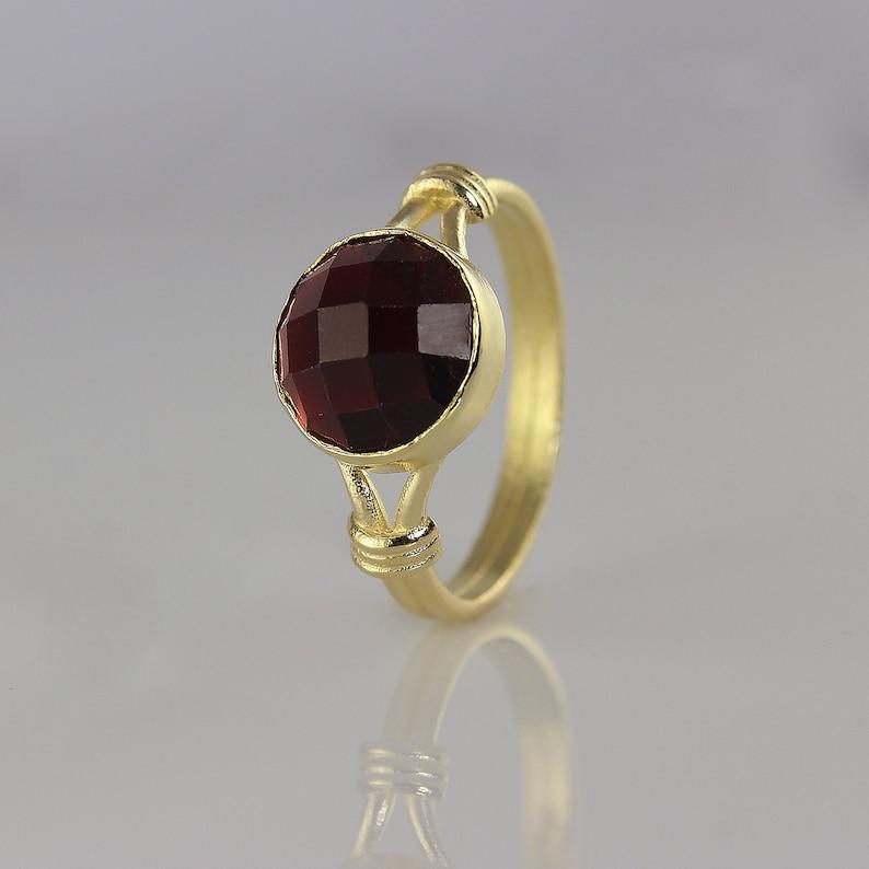 14K Garnet Engagement Ring  Solitaire Engagement Ring  image 0