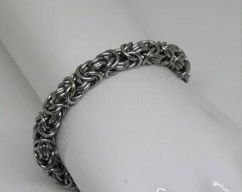 Handcrafted Stainless Steel Byzantine Bracelet.