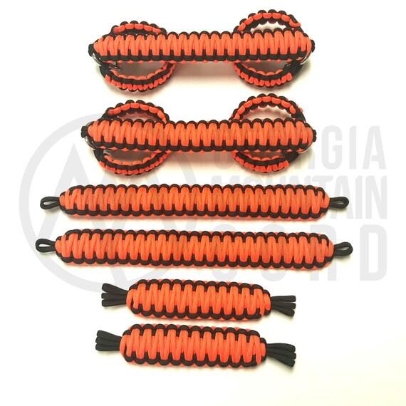 Orange 2-door Paracord Grab Handles Full Set Weave For Jeep Wrangler CJ YJ TJ JK