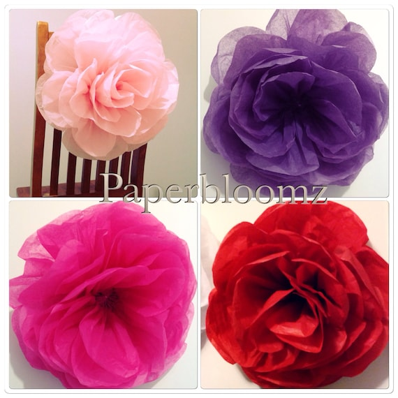 Bulk Of 50 X Large Paper Roses Wedding Flowers Backdrops Party Etsy