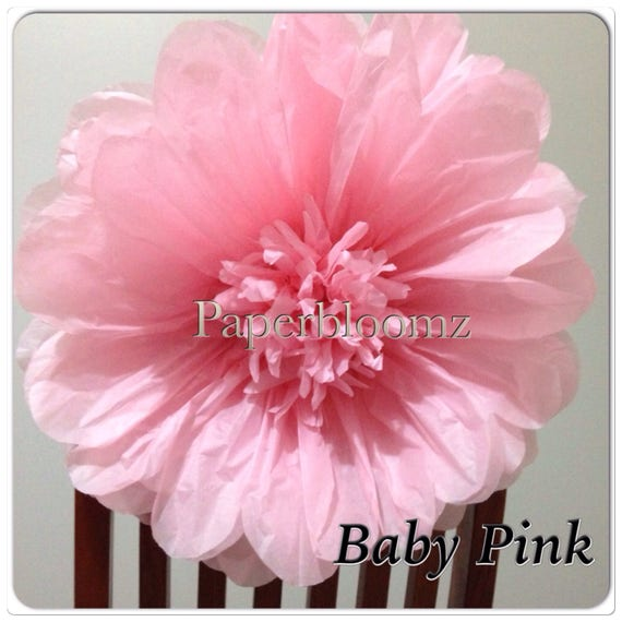 Paper Flowers x 5 Party Event Backdrops Wall Decor 25cm Paperbloomz Medium
