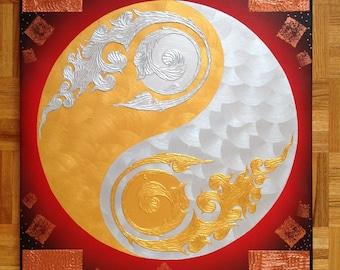 Original Painting Yin Yang Asian Style