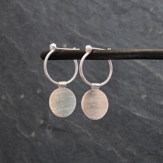 Minimal Silver Hoops
