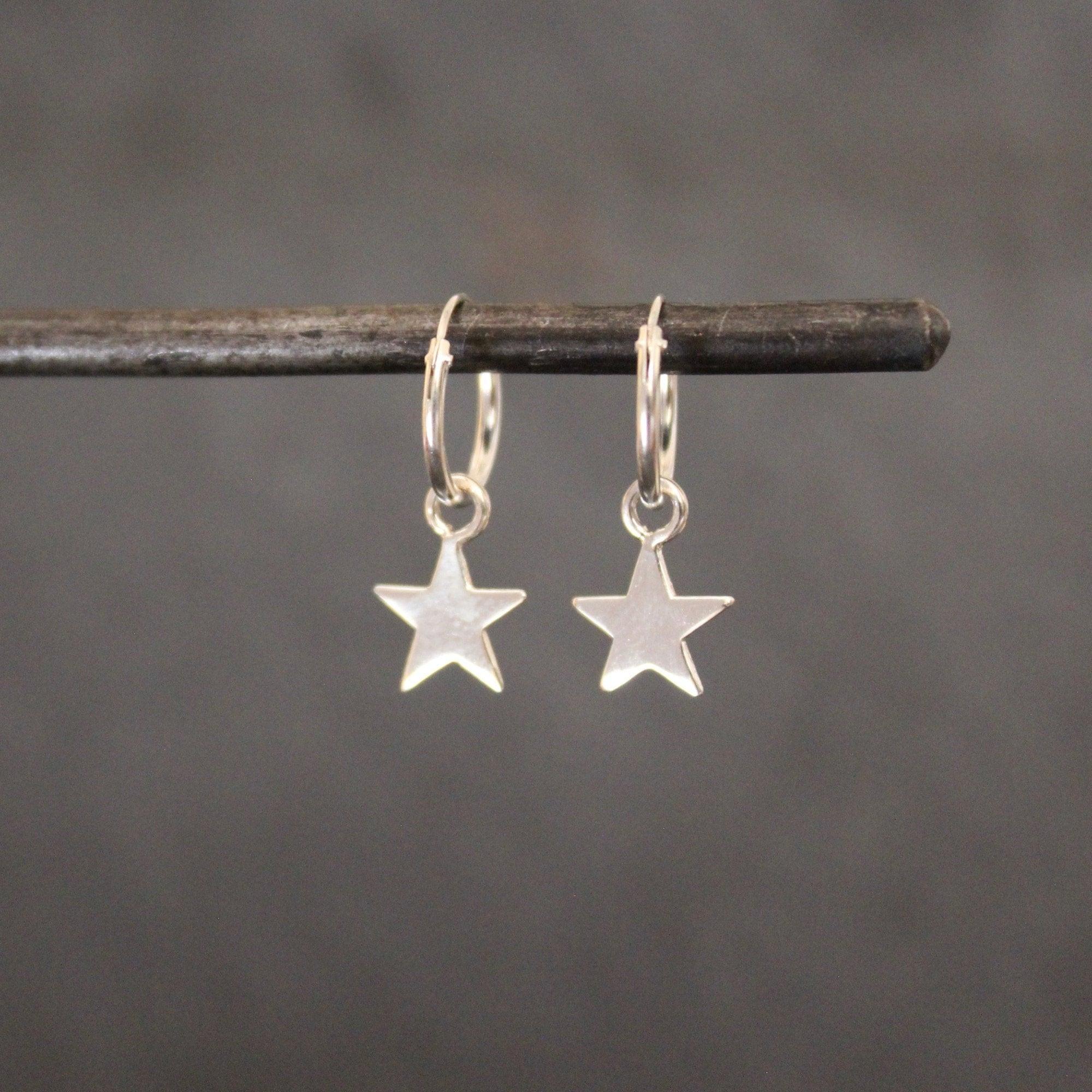Boho Sterling Silver Star Earrings