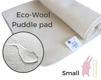 Small Wool puddle pad, mattress protector for seat, crib, bed changing mat, for potty training, elimination communication