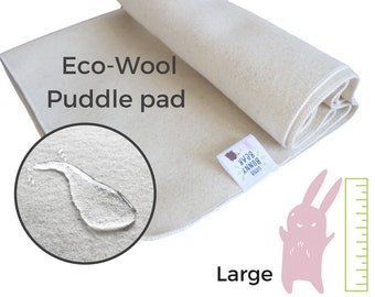Large Wool puddle pad, mattress protector for bed, floor, for potty training, elimination communication