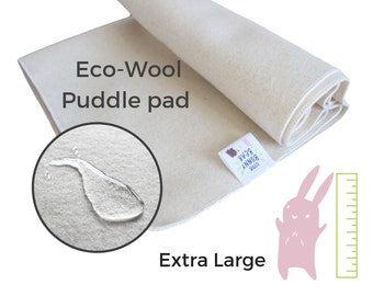 Extra large bed Wool puddle pad, mattress protector for bed, floor, for potty training, elimination communication