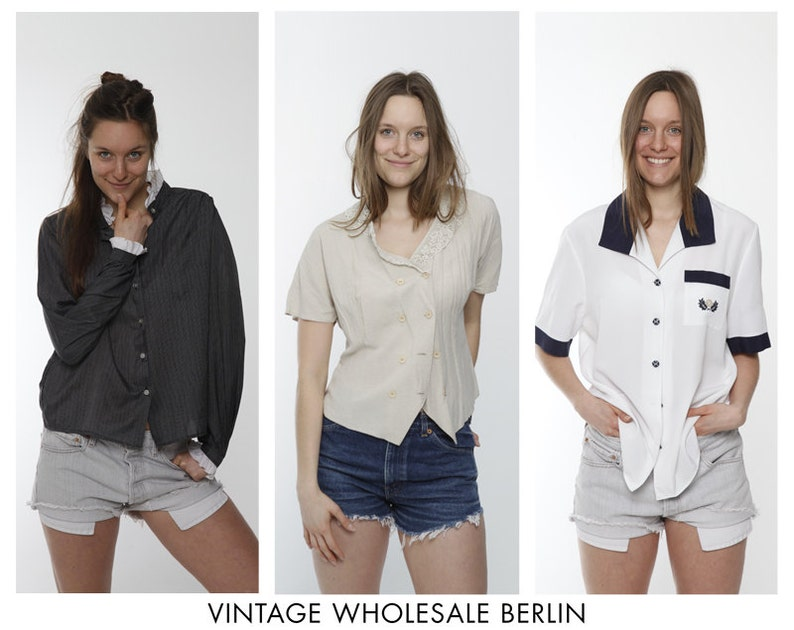 80s wholesale 90s mystery classic ruffle Vintage BLOUSES traditional MIXED lot x 10 items high quality bulk order ready for resale