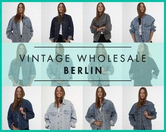 Bitte kontaktieren Sie uns, bevor Sie bestellen! Vintage Marken JEANSJACKEN Konvolut 10 Artikel, Großhandel