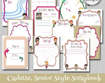 Cadette Style Scrapbook, Senior Style Scrapbook, Instant Download