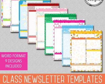 Free Newsletter Template For Preschool from i.etsystatic.com