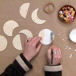 DIY Moon Phase Wall Hanging, Make Your Own Moon Garland, Moon Phase Craft Kit, Choose Your Paint Set, Paint Your Own Moon Phase Banner,
