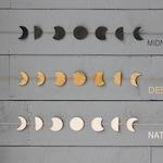 Moon Phase Wall Hanging, Three Styles, Handmade Moon Decor, Phases of the Moon Wall Art