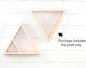 Wooden Triangle Shelf, Geometric Shelf, Floating Shelf
