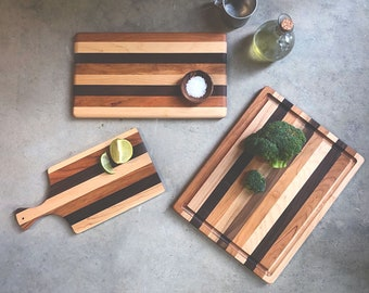 Live edge Tuscan collection cherry board cutting board handmade unique gift housewarming gift,cherry wood charcuterie board