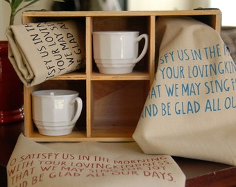 Psalm 90:14 Kitchen Towel