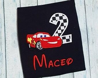 Personalized Disney Cars Birthday Shirt- Lightning Mcqueen Birthday shirt- Lightning Mcqueen- Cars Birthday shirt- Cars Birthday Party