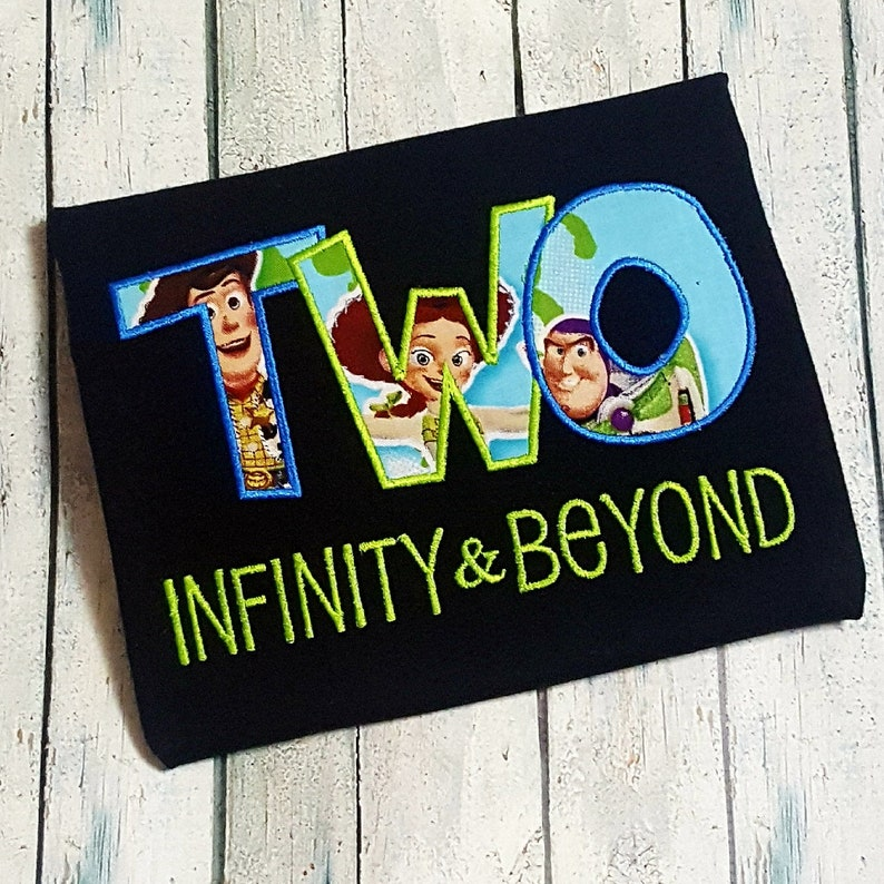 242e0d10da1 Toy Story inspired birthday shirt TWO Infinity and beyond