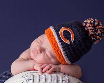 Chicago Bears hat baby boy, girl, newborn, preemie