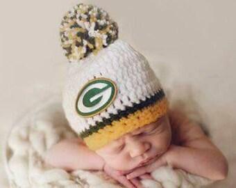 Green Bay Packers baby boy, girl hat, newborn, preemie