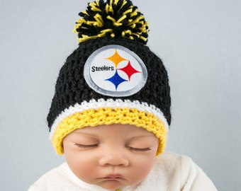 Pittsburgh Steelers baby boy, girl, hat, newborn, preemie size available