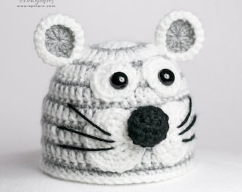 Baby boy, girl, tiger hat, newborn, preemie size available