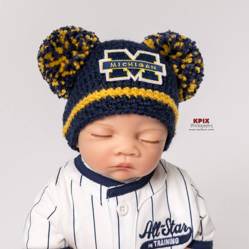 a9b7169e815d3 Wolverines inspired baby hat for boy girl newborn preemie
