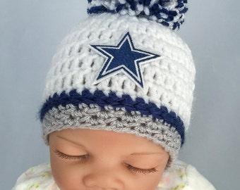Dallas Cowboys baby boy, girl, hat, newborn, preemie