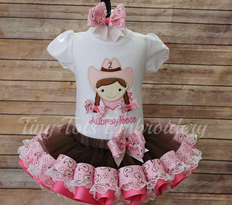 Cowgirl Tutu Outfit Birthday Includes Top