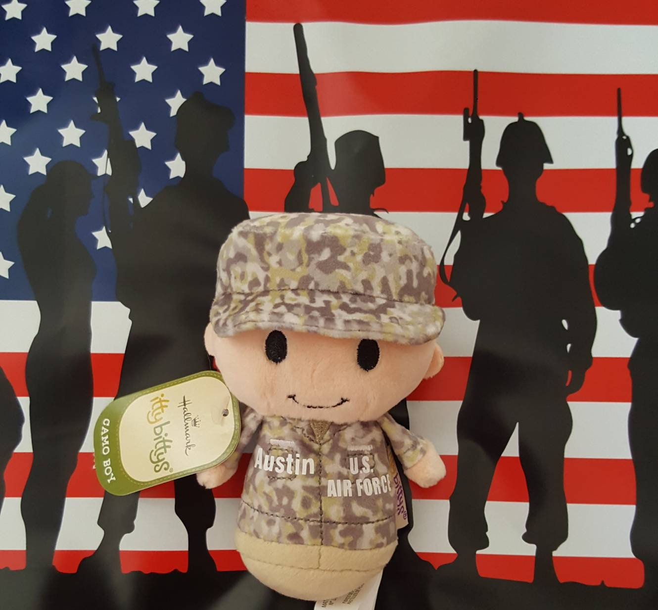 itty bittys Camo US Air Force, Army, Navy, Marines Military Itty Bitty,  Customized Military Deployment Basic Training