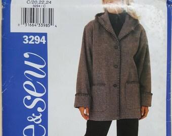 See & Sew Pattern Size 20-24  #3294