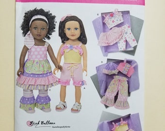 Simplicity Doll Clothing Pattern  #1296
