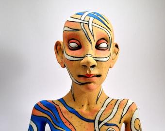 ceramic sculpture - sculpture - ceramic art - bust - ceramic bust - art