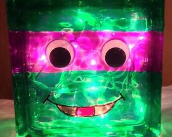 Teenage Mutant Ninja Turtle Glass Block