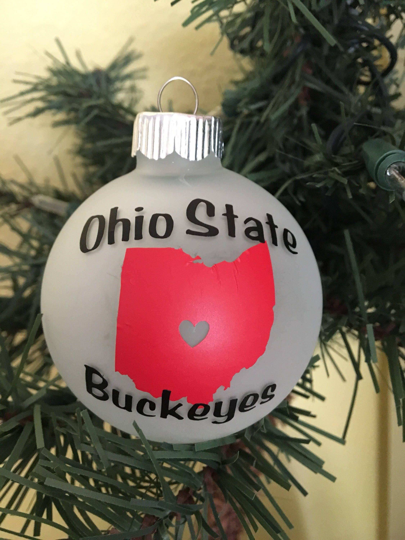 Ohio State Buckeyes Ornament | Etsy