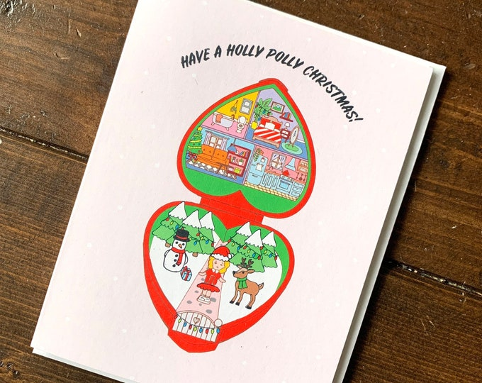 Featured listing image: Polly Pocket Christmas Card