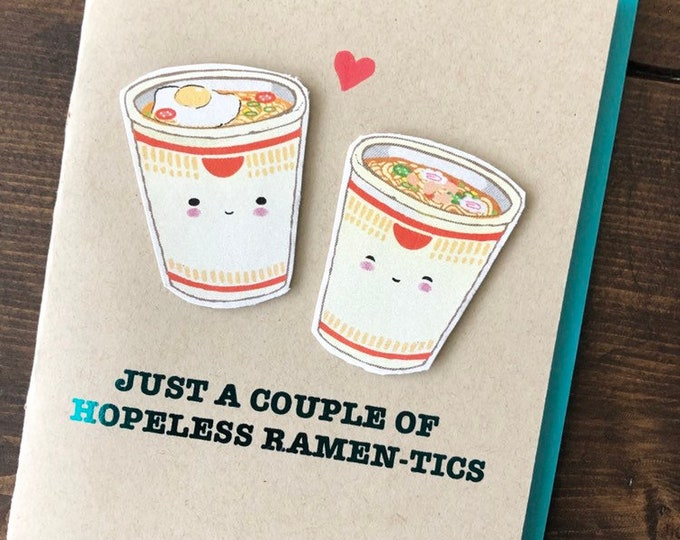 Featured listing image: Instant Ramen Cup Noodles Love Anniversary Card
