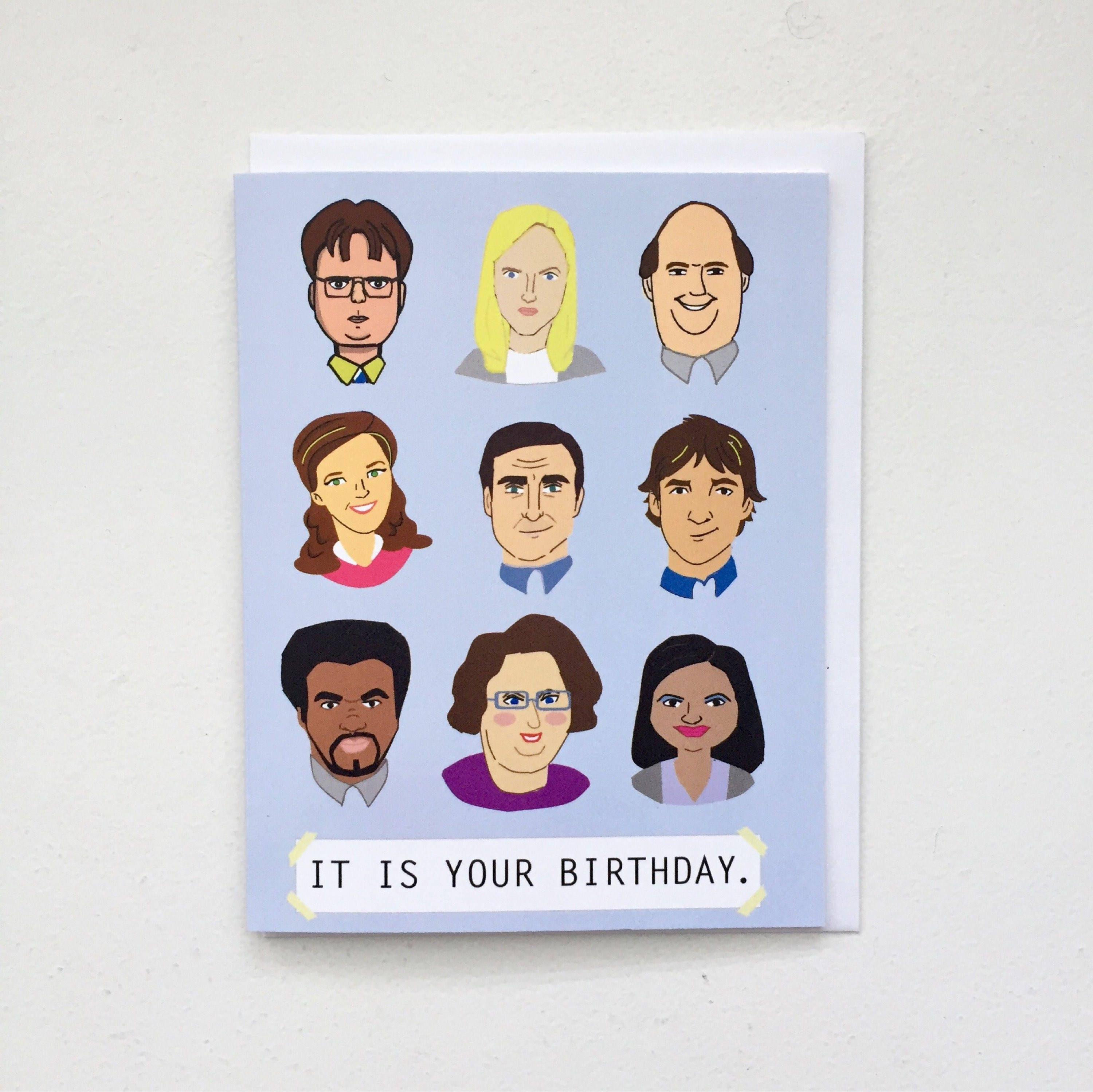 The Office TV Birthday Card Tv Show Dunder