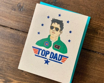 Top Gun Father's Day Card- Tom Cruise Maverick Card, Card for Dad, Fathers Day Gift, Card for Him